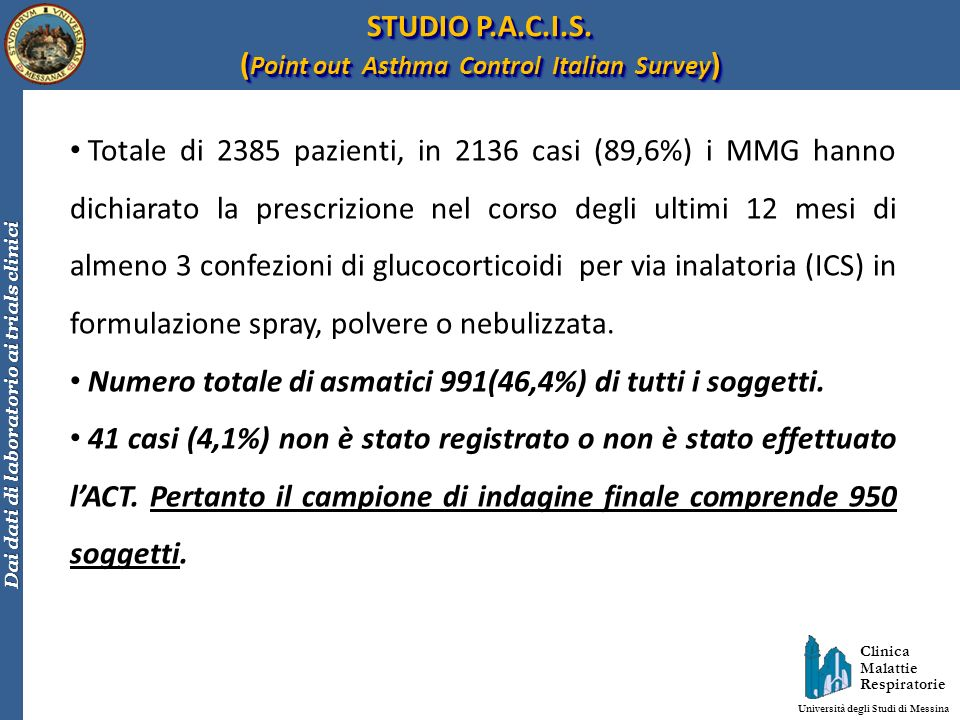 (Point out Asthma Control Italian Survey)