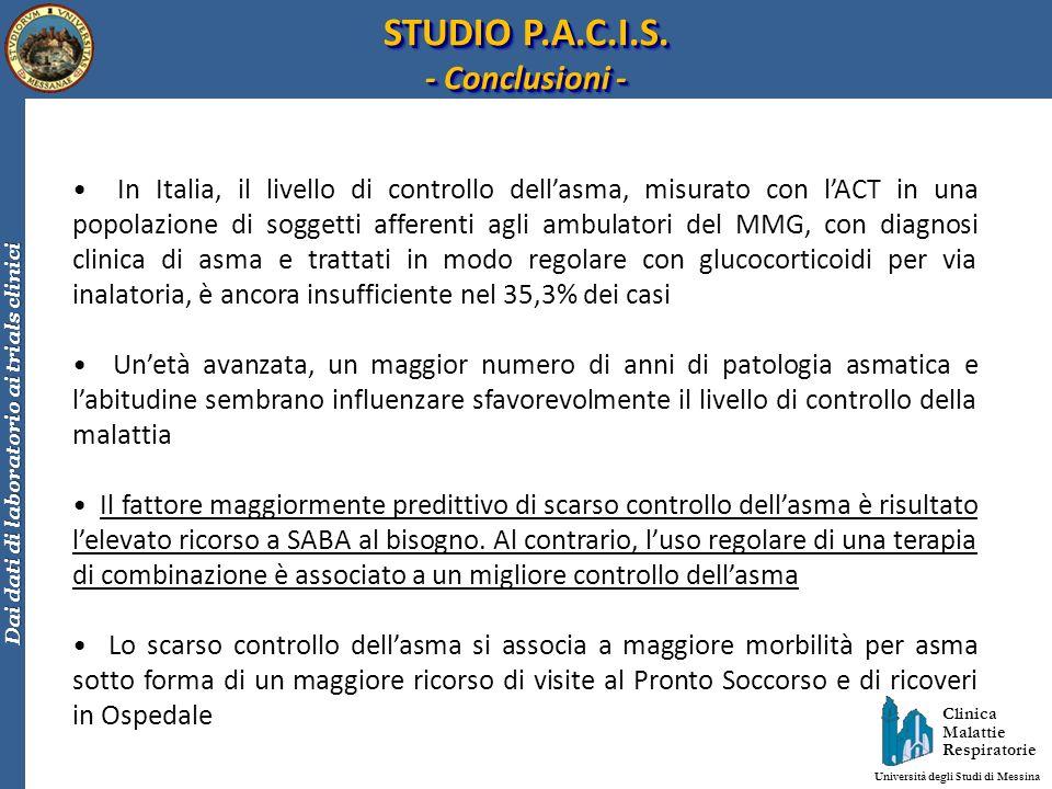 STUDIO P.A.C.I.S. - Conclusioni -