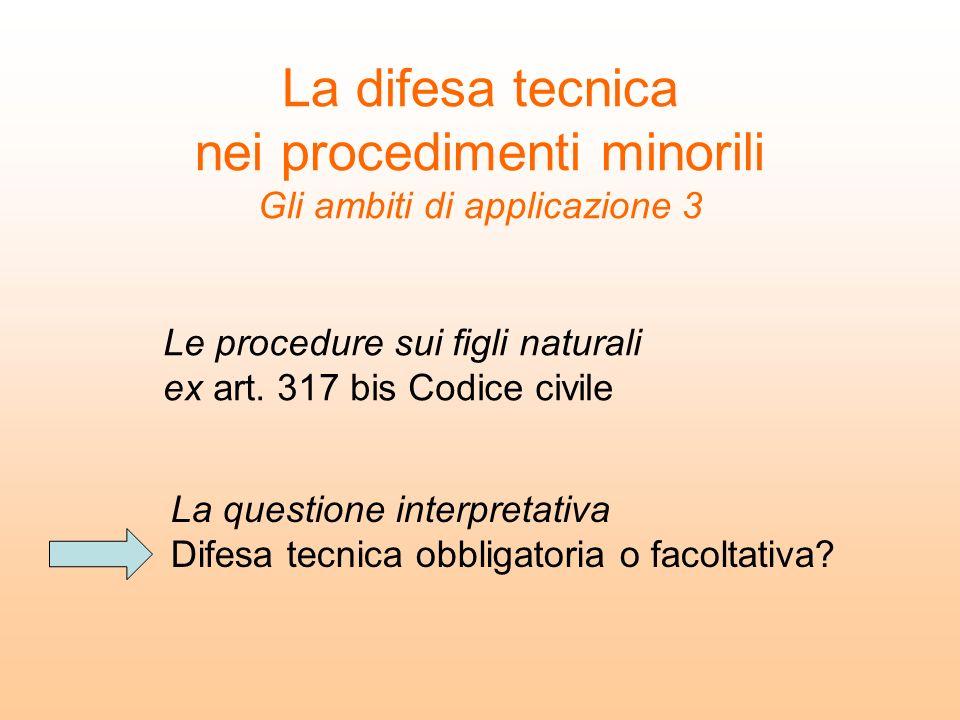 Le procedure sui figli naturali ex art. 317 bis Codice civile