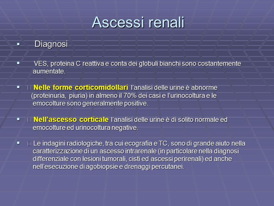 Ascessi renali Diagnosi