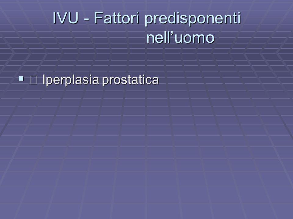 IVU - Fattori predisponenti nell'uomo