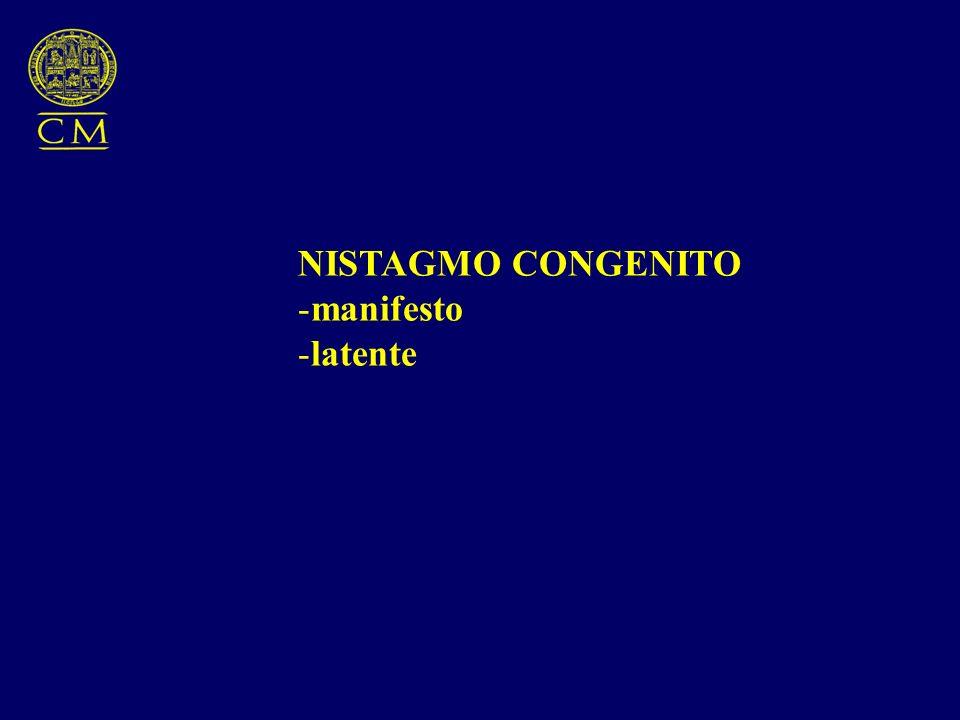 NISTAGMO CONGENITO manifesto latente