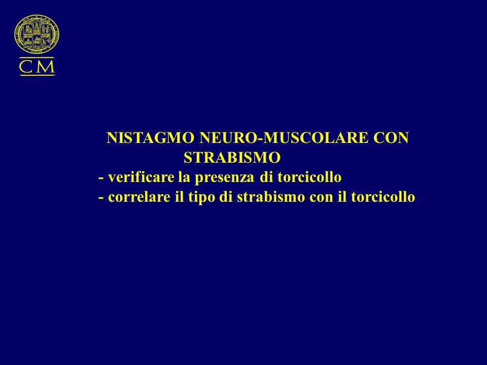 NISTAGMO NEURO-MUSCOLARE CON