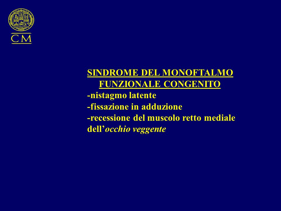 SINDROME DEL MONOFTALMO