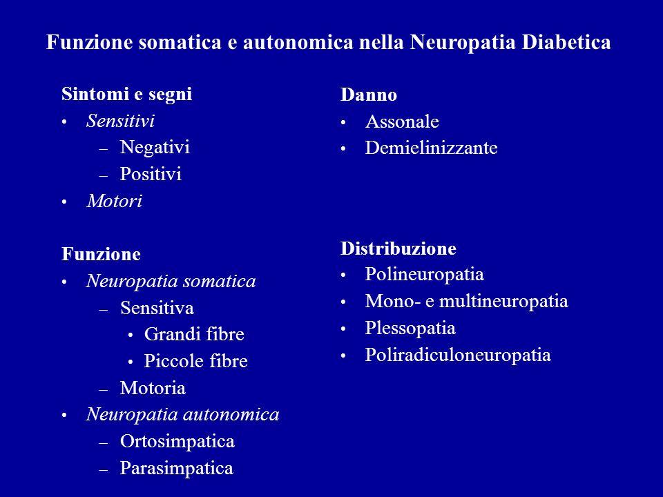 Funzione somatica e autonomica nella Neuropatia Diabetica
