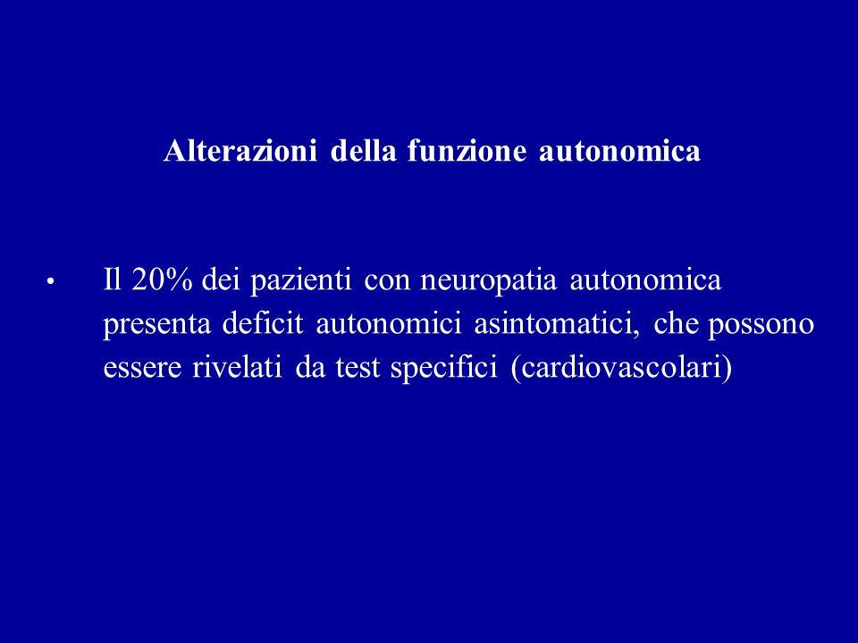 Alterazioni della funzione autonomica
