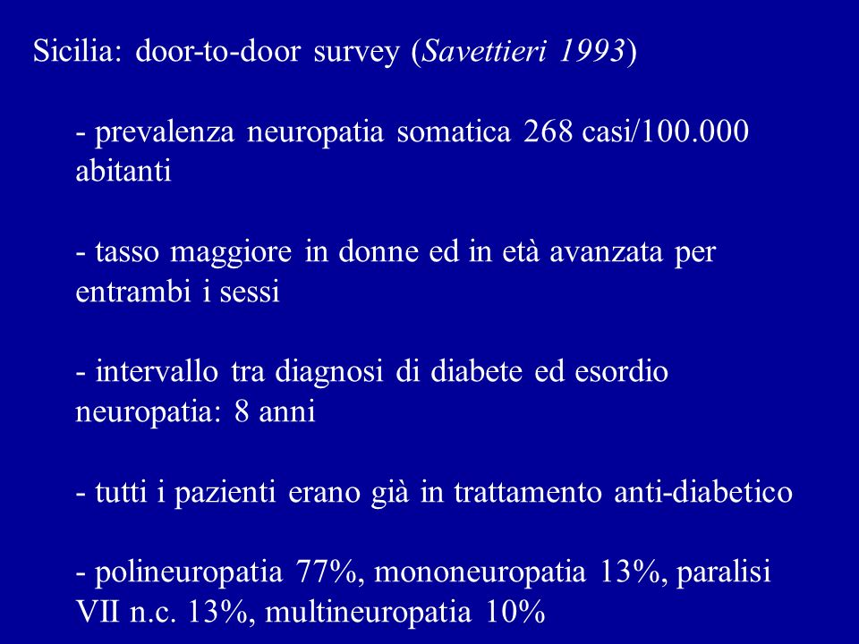 Sicilia: door-to-door survey (Savettieri 1993)