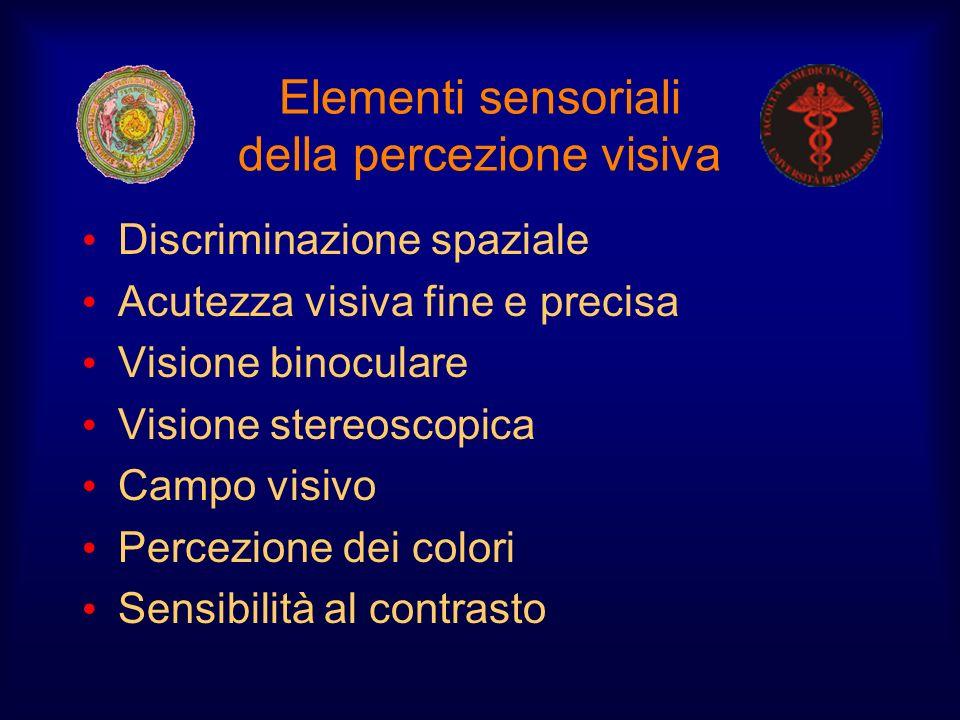 Elementi sensoriali della percezione visiva
