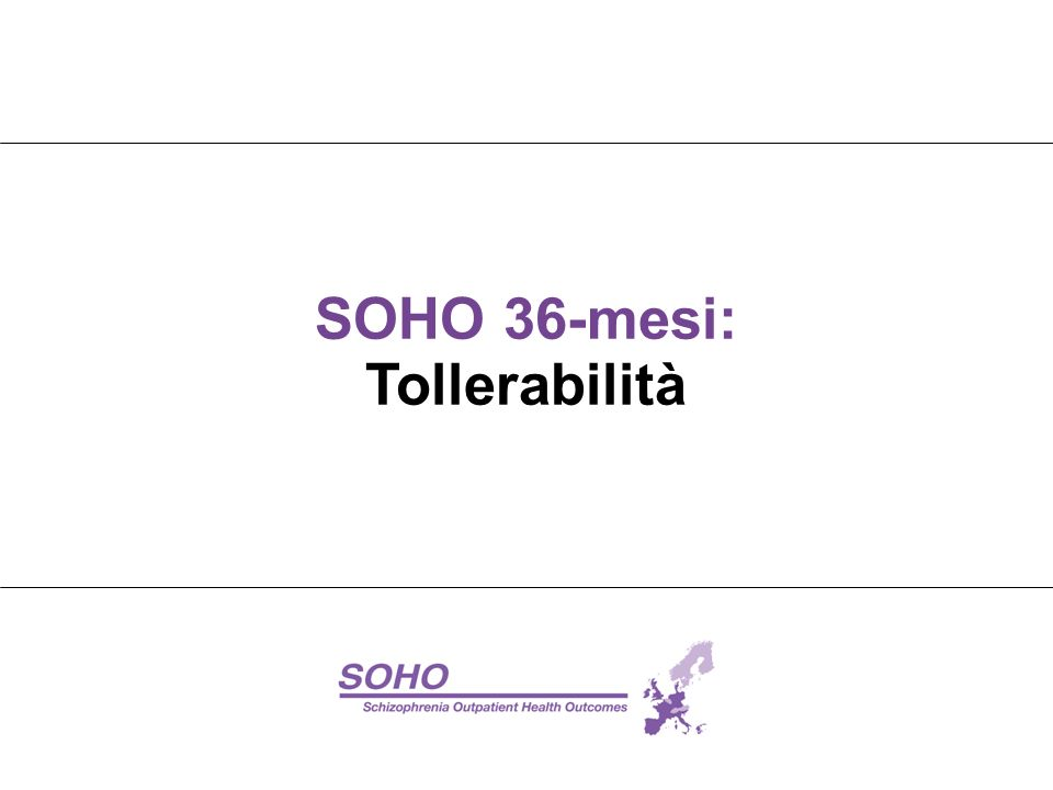 SOHO 36-mesi: Tollerabilità