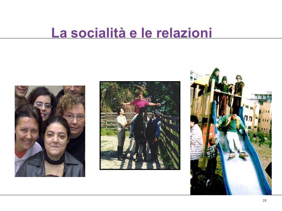 La socialità e le relazioni