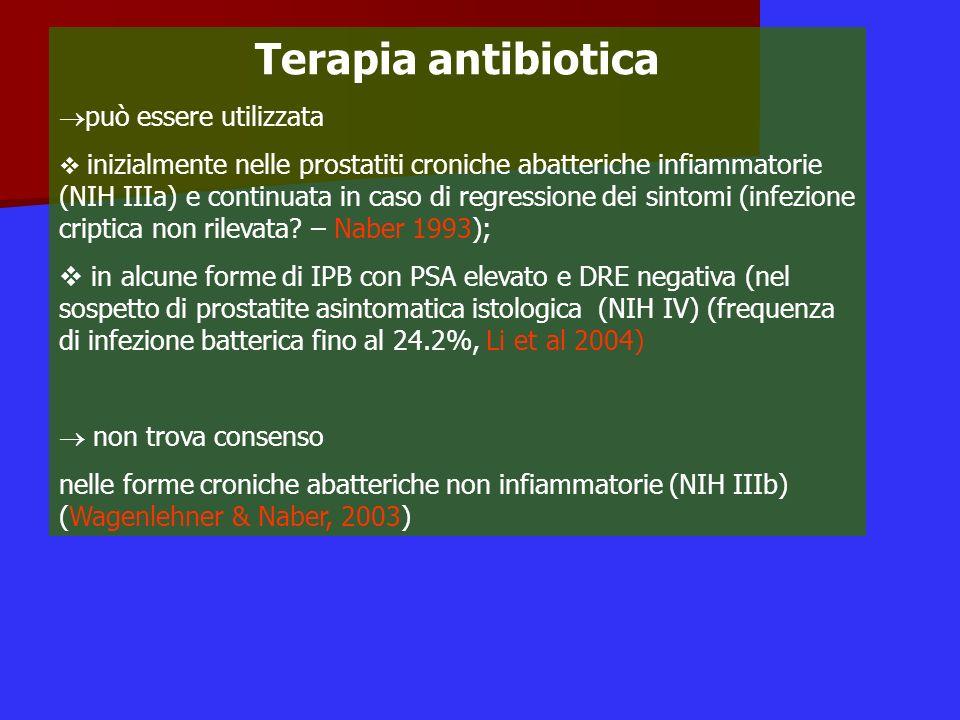 Terapia antibiotica può essere utilizzata
