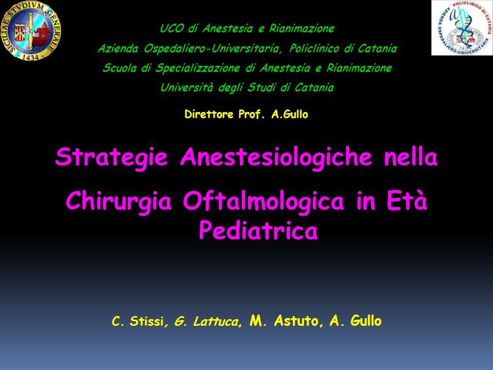 Strategie Anestesiologiche nella