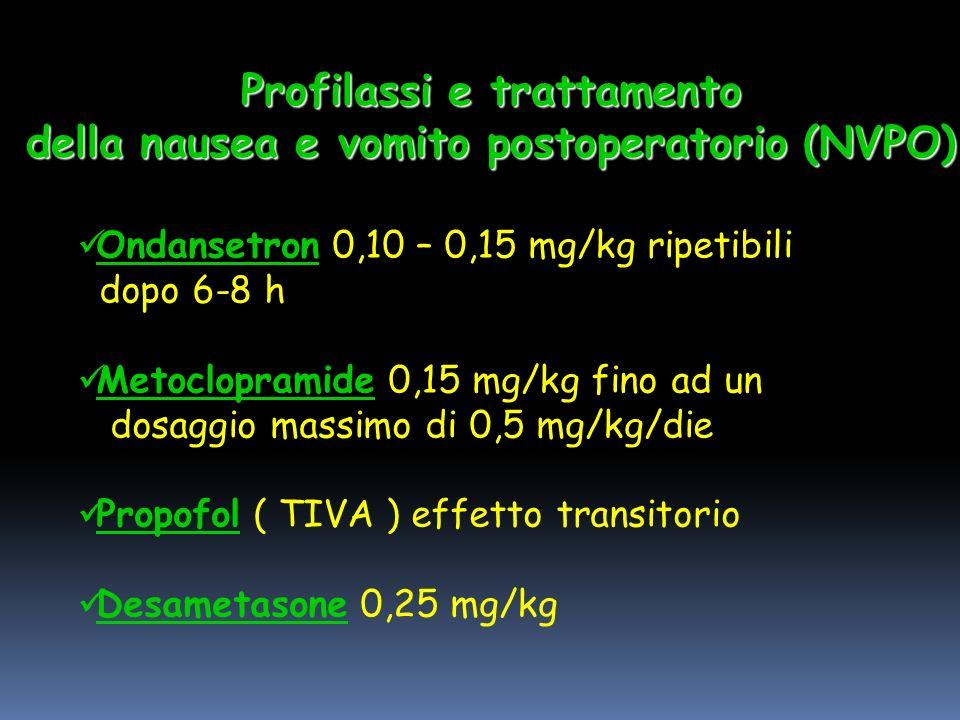 Profilassi e trattamento della nausea e vomito postoperatorio (NVPO)