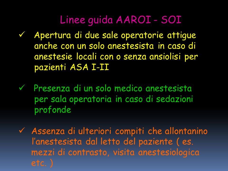 Linee guida AAROI - SOI Apertura di due sale operatorie attigue