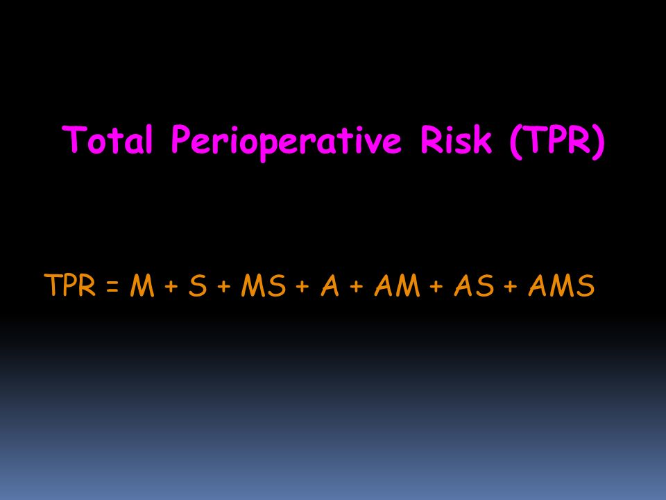 Total Perioperative Risk (TPR)