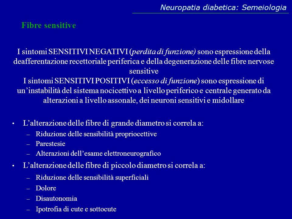 Neuropatia diabetica: Semeiologia