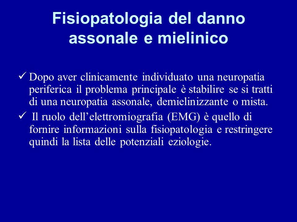 Fisiopatologia del danno assonale e mielinico