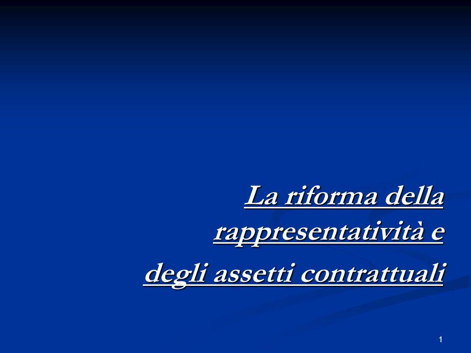 La riforma della rappresentatività e