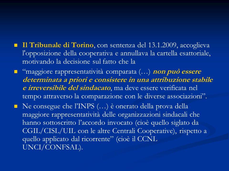 Il Tribunale di Torino, con sentenza del 13. 1