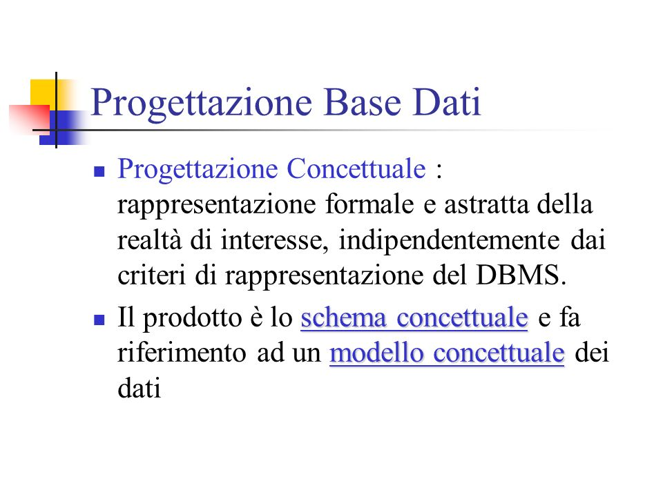 Progettazione Base Dati