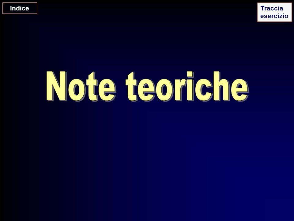 Indice Traccia esercizio Note teoriche