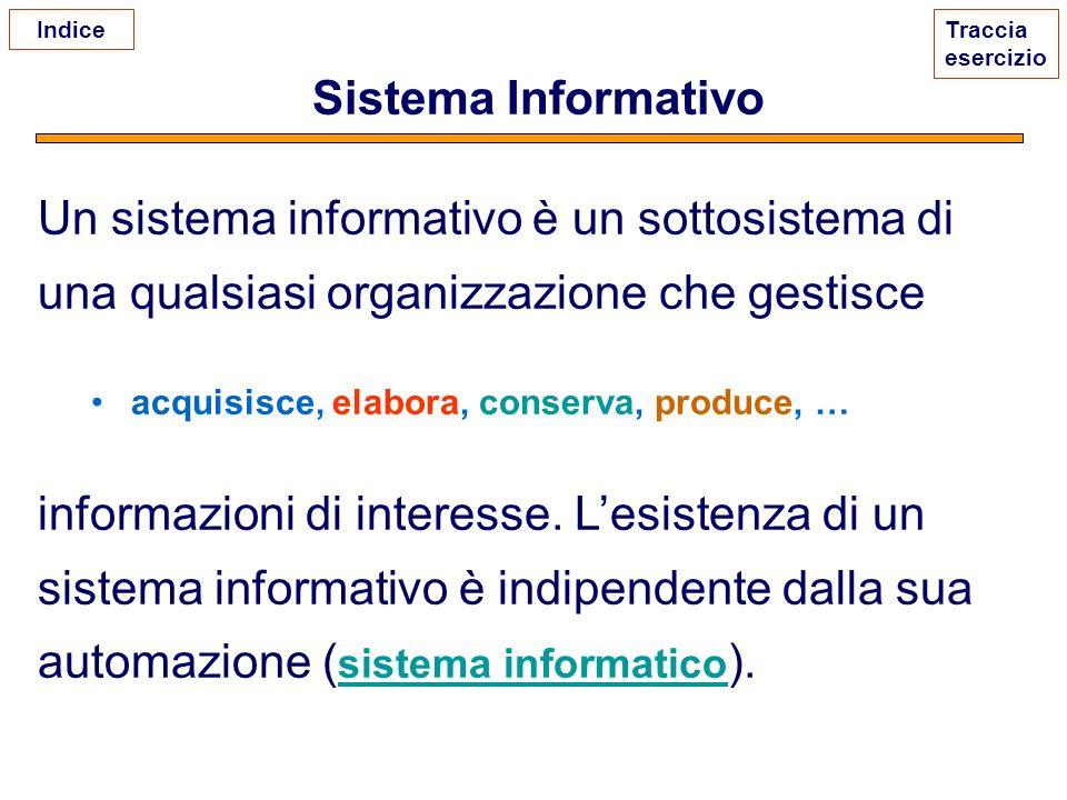 Un sistema informativo è un sottosistema di