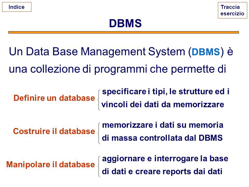 specificare i tipi, le strutture ed i vincoli dei dati da memorizzare