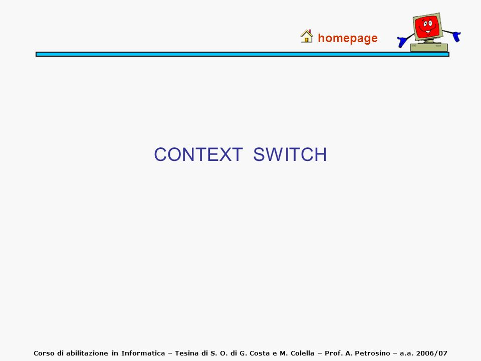 CONTEXT SWITCH homepage