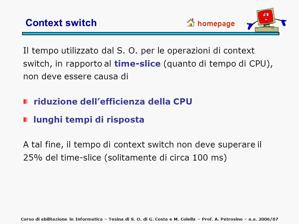 Context switch homepage.