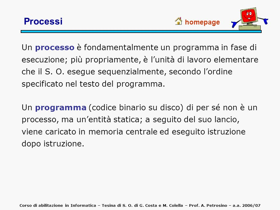 Processihomepage.