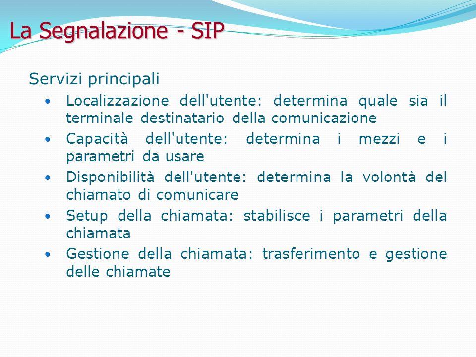 La Segnalazione - SIP Servizi principali