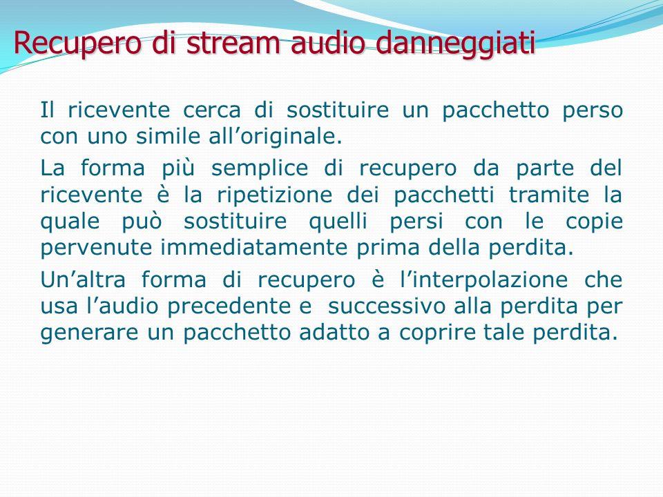 Recupero di stream audio danneggiati