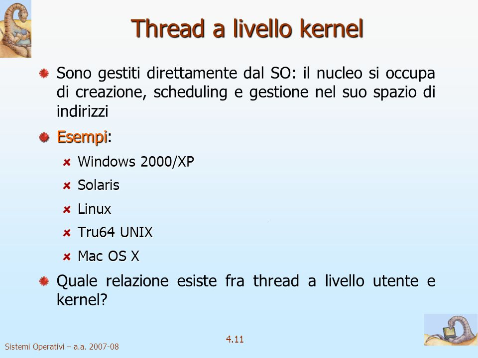 Thread a livello kernel
