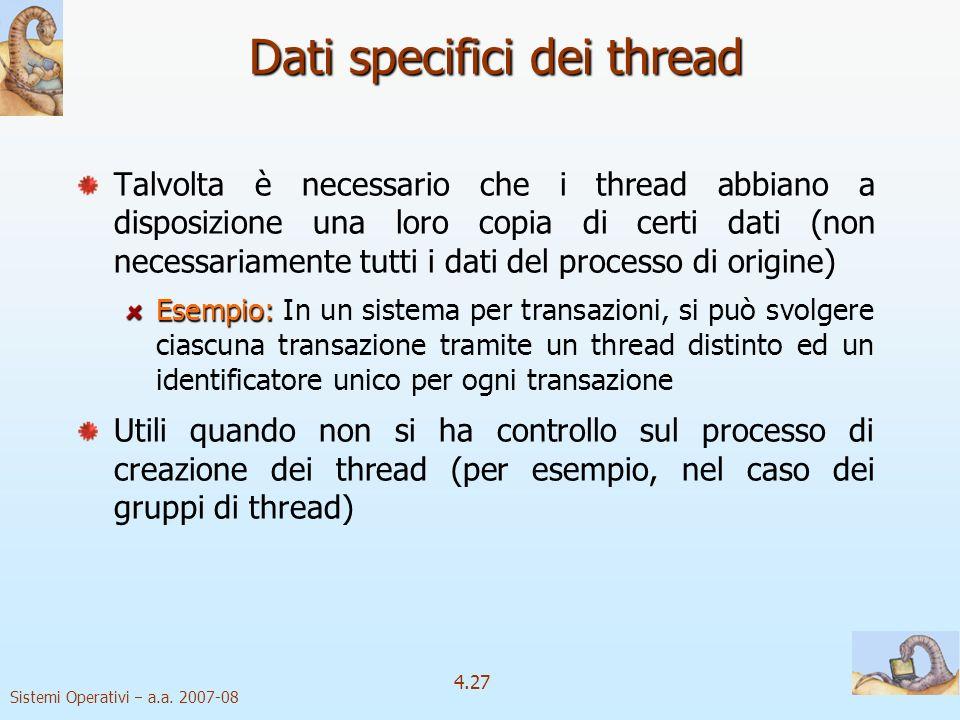 Dati specifici dei thread