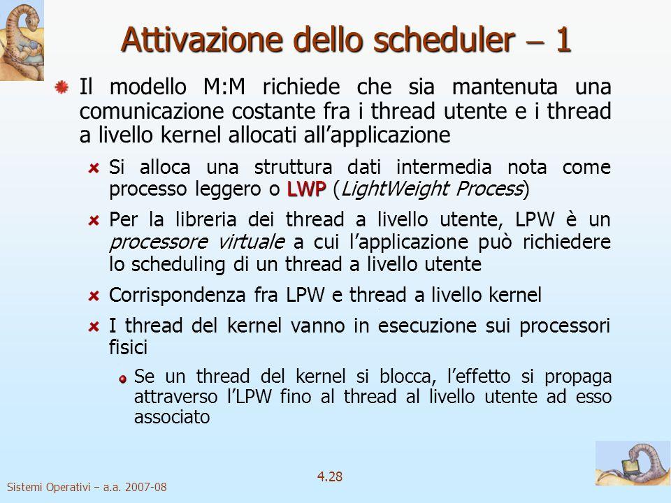 Attivazione dello scheduler  1