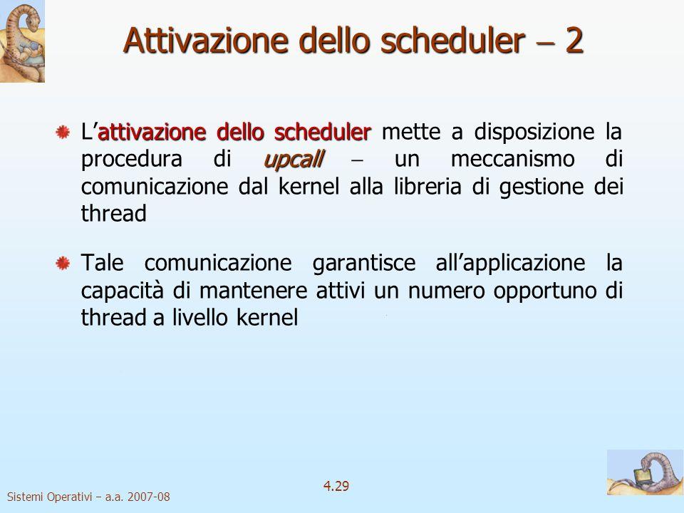 Attivazione dello scheduler  2