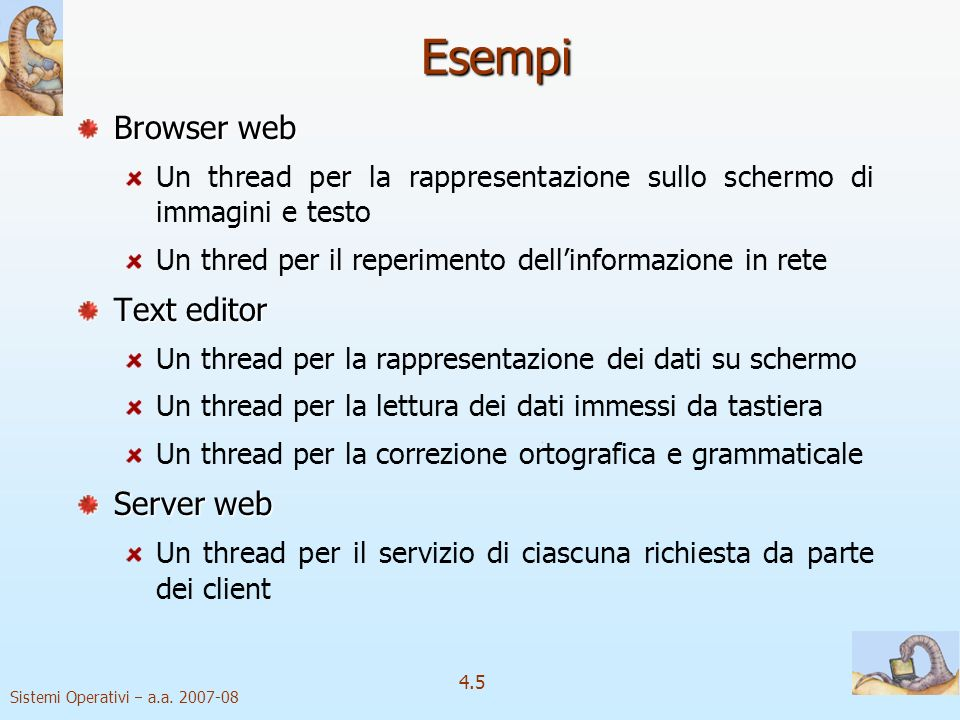 Esempi Browser web Text editor Server web