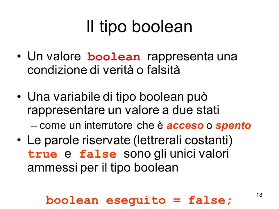 boolean eseguito = false;