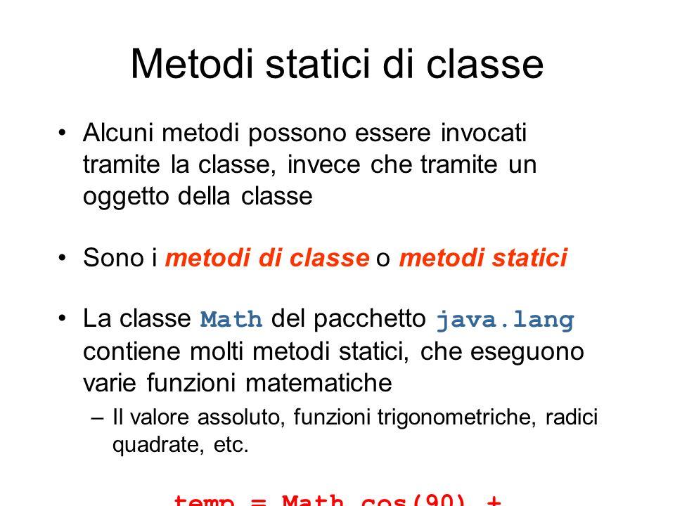 Metodi statici di classe