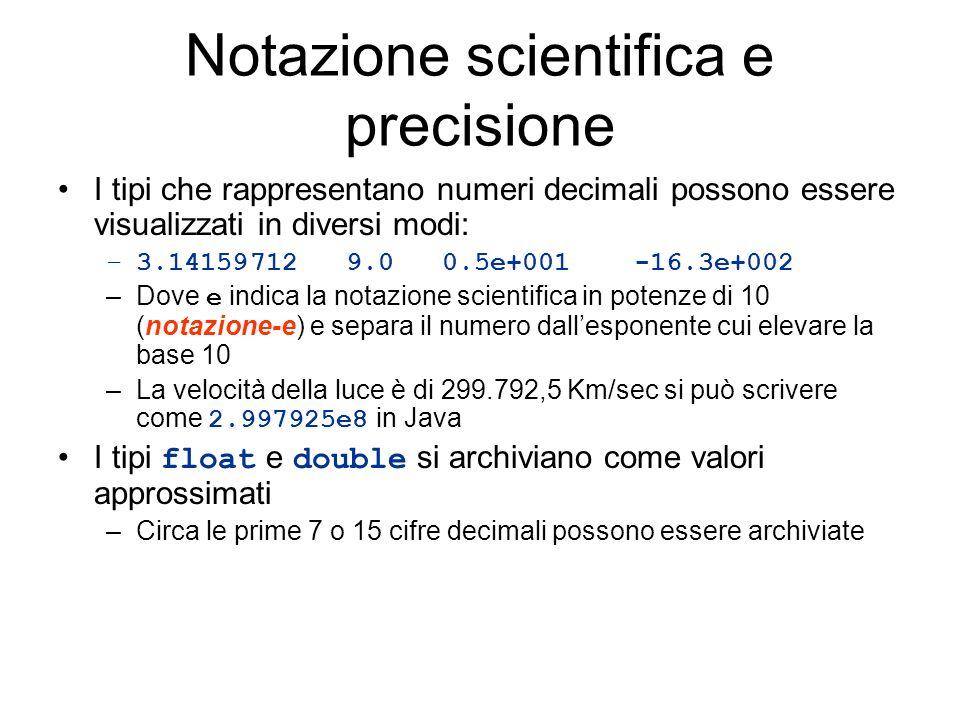 Notazione scientifica e precisione
