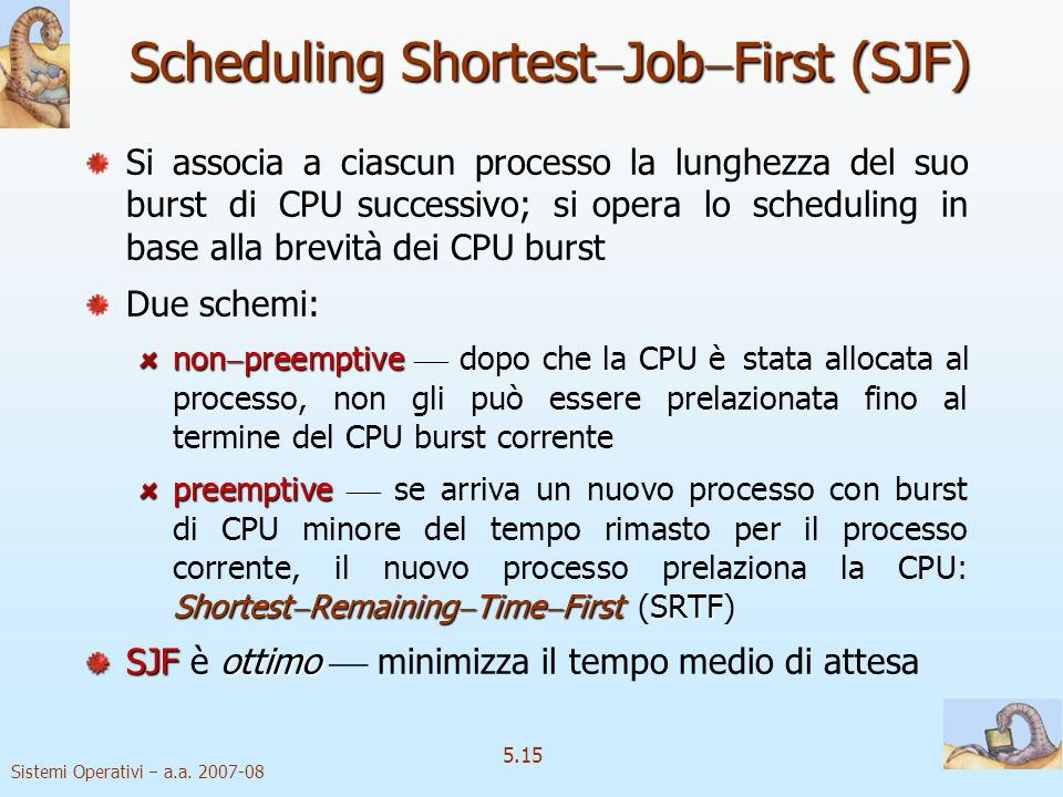 Scheduling ShortestJobFirst (SJF)