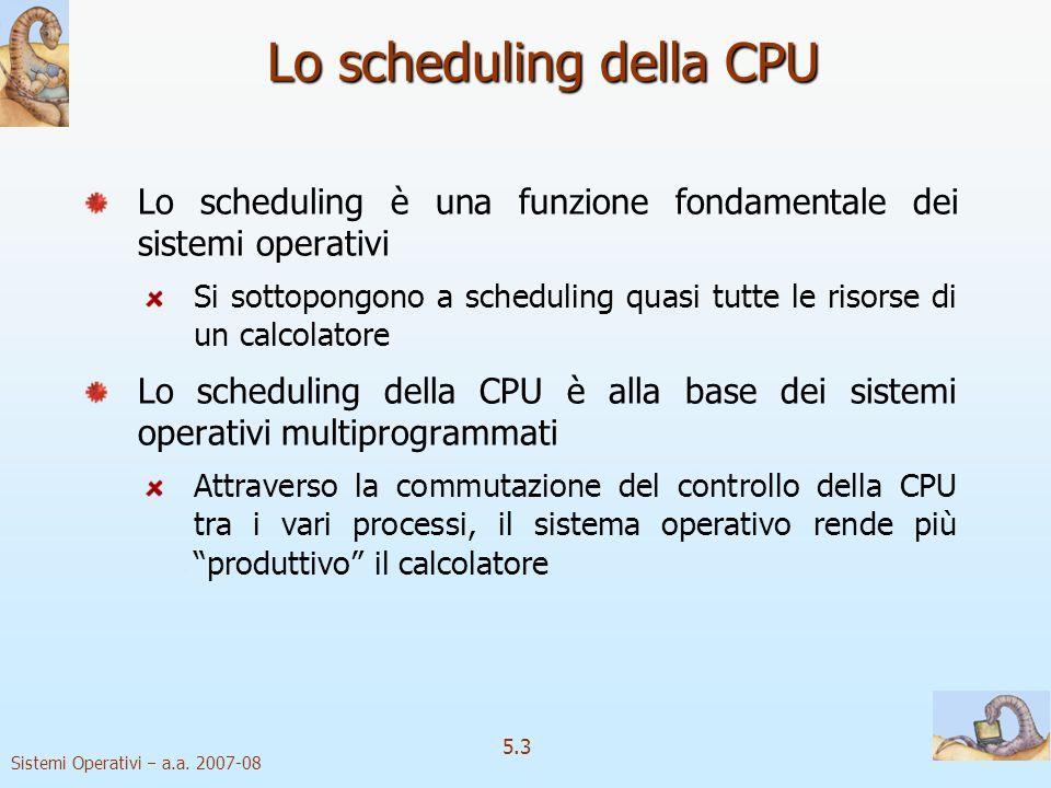 Lo scheduling della CPU