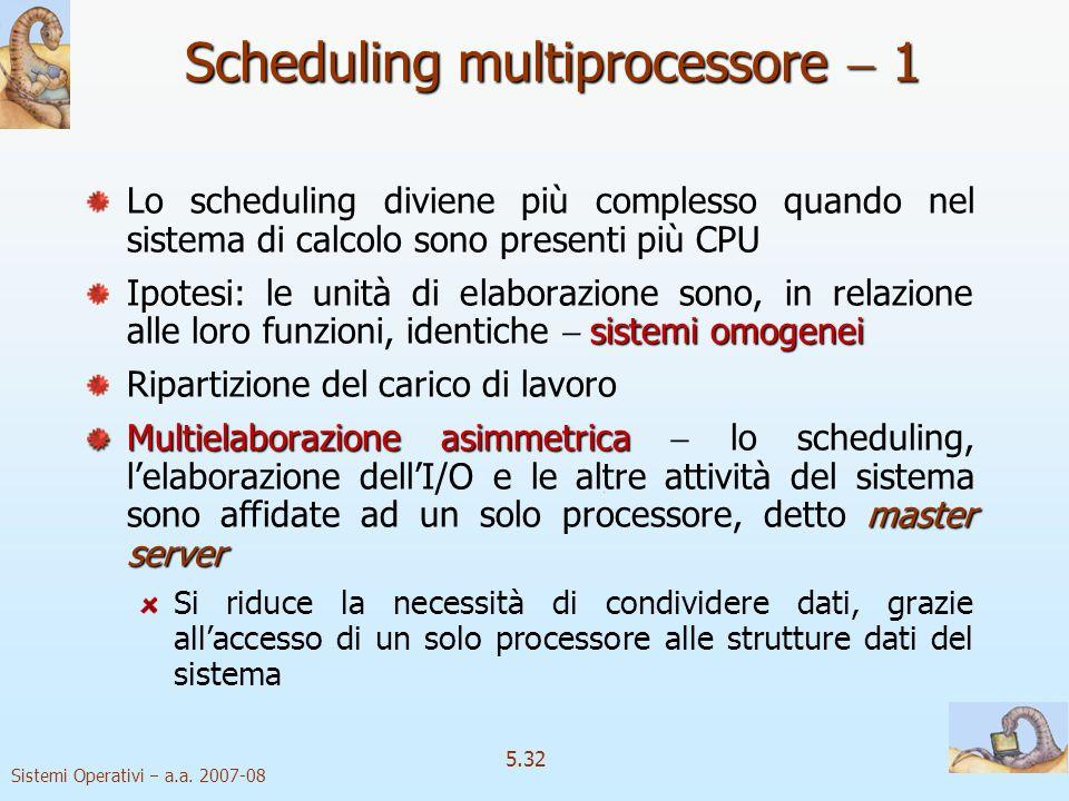 Scheduling multiprocessore  1