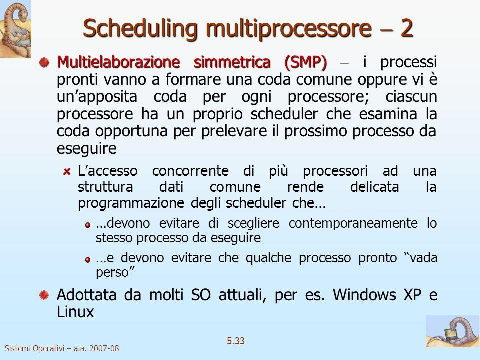 Scheduling multiprocessore  2