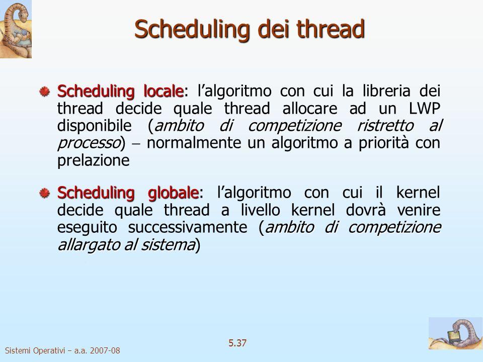 Scheduling dei thread