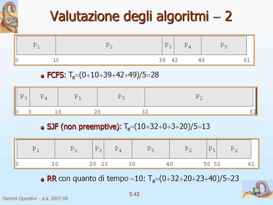 Valutazione degli algoritmi  2