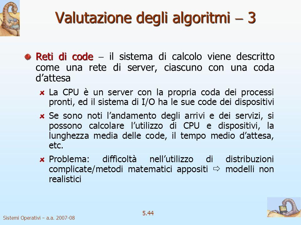 Valutazione degli algoritmi  3