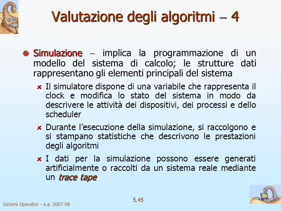 Valutazione degli algoritmi  4