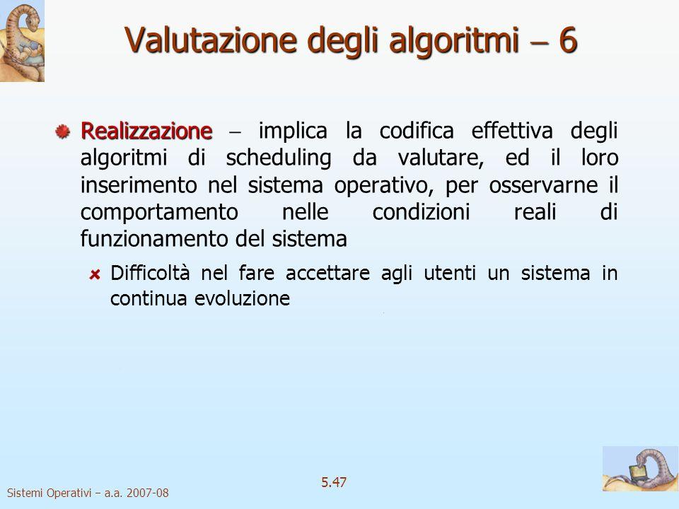 Valutazione degli algoritmi  6
