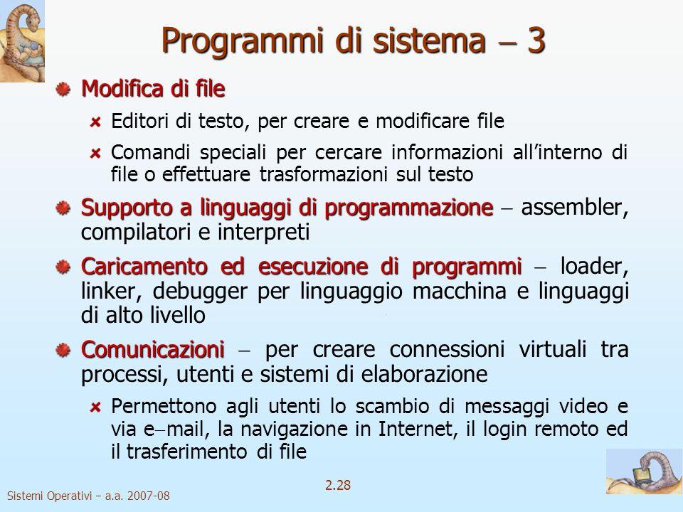 Programmi di sistema  3 Modifica di file
